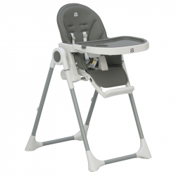 Jídelní židlička Scarlett Rosa - šedá