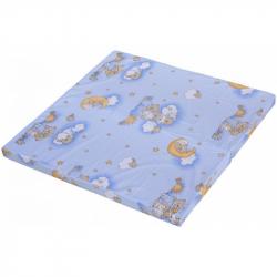 Materac Obłok do kojca Bela – niebieski, 100 x 100 cm