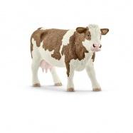 Schleich - Zvieratko - krava simmentálská