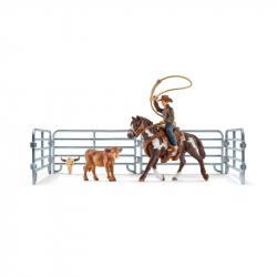 Kowboj łapiący na lasso