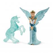 víla Eyela s jednorožcem ledová socha