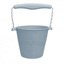 Scrunch silikonový kbelíček světle šedý
