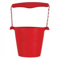 Scrunch silikónový kbelíček červený