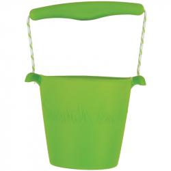 Scrunch silikónový kbelíček svetlo zelený