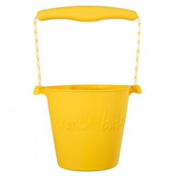 Scrunch silikónový kbelíček žltý