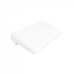 Kojenecký vankúš - klin Sensillo biely Luxe s aloe vera 60x38 cm