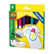 Fixy na textil MAXI,8 barev,