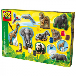 Odlewy gipsowe Zwierzęta + farby