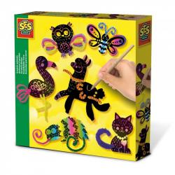 Kreatywna zabawa - Zwierzątka zdrapywanki