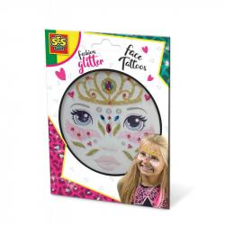 Třpytkové tetování na obličej - princezna