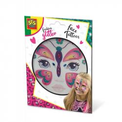 Třpytkové tetování na obličej - motýl