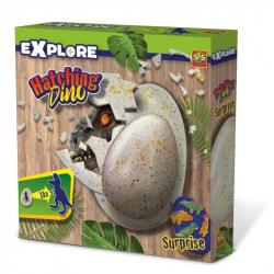 Rosnący dinozaur w jajku