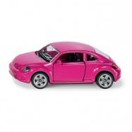 SIKU Blister - Volkswagen Beetle růžový s polepkama