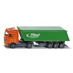 Ciężarówka z przyczepą wywrotną i dachem