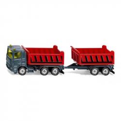 SIKU Blister- Ciężarówka wywrotka z przyczepą