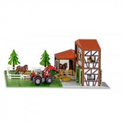 SIKU World - Stajňa s koňmi a traktorom