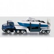 Kovový model auta - SIKU Blister - Podvalník s člunem