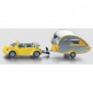 Siku Blister - osobný automobil s obytným prívesom