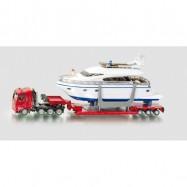 SIKU Super - Přeprava těžkého nákladu s jachtou, 1 87