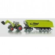 SIKU Farmer - Traktor s předním nakladačem a přívěsem 1 50
