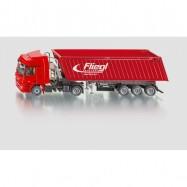 SIKU Super - Kamion s vyklápěcím vlekem červený, 1 50