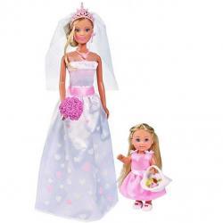 Panenka Steffi a Evi Nevěsta s družičkou
