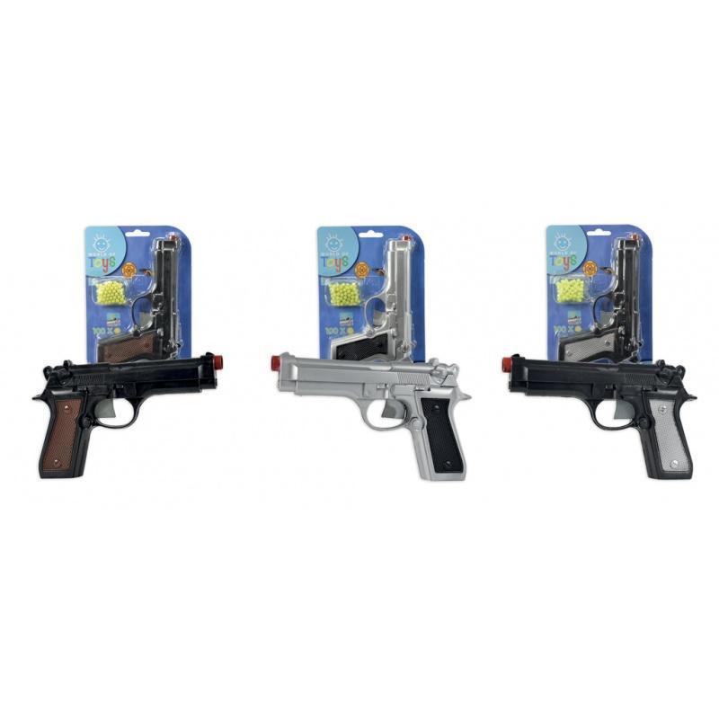 Pistole kuličková s municí, 21 cm, 3 dr.