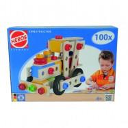 Drevený konštrukčný set Constructor 100 d