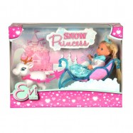 Panenka Evička Sněhová princezna s kočárem