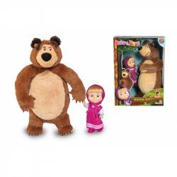 Máša a medveď Set Míša plyšový 25cm a bábika Máša 12cm