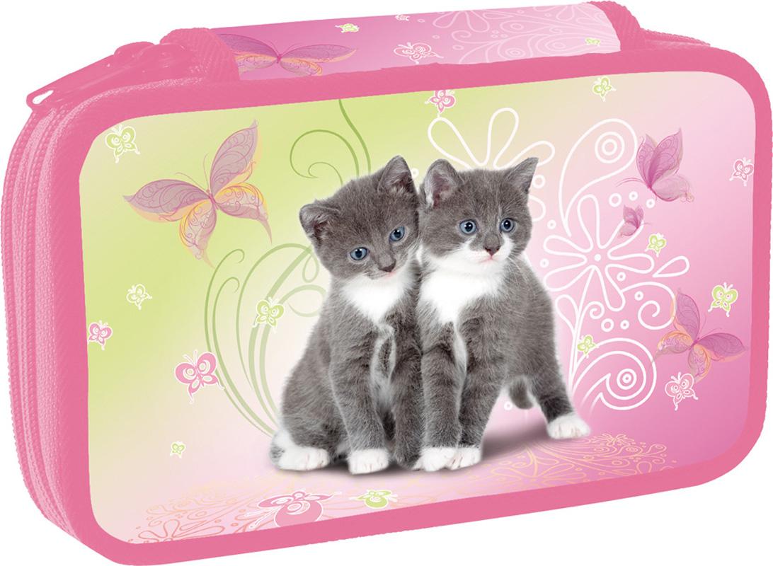 Školní penál dvoupatrový Cats