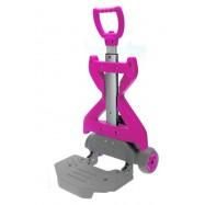 Sklopný vozík na tašky a batohy Ružový