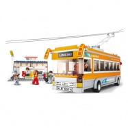Sluban Town M38-B0332 Trolejbus se stanicí