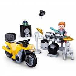 Sluban Town Motorcycles M38-B0717B Perkusista z motocyklem