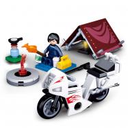 Sluban Town Motorcycles M38-B0717E Rowerzysta na kempingu