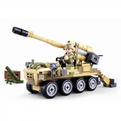 Sluban Army Model Bricks M38-B0751 Mobilné kanón 8x8 s pozemným mínometom