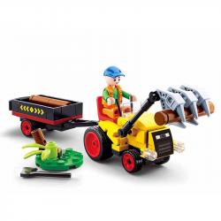 Sluban Town Farm M38-B0777 Ciągnik z przyczepą