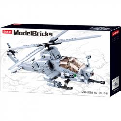 Sluban Army Model Bricks M38-B0838 Bojový helikoptéra