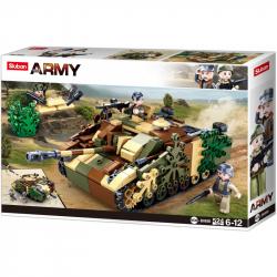 Sluban Army N38-B0858 Maskovaný obrnený tank
