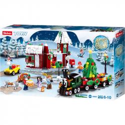 Sluban Town M38-B0887 Bożonarodzeniowa wioska z pociągiem