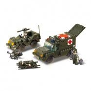 Sluban Army M38-B6000 Ambulance