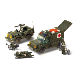 Sluban Army M38-B6000 Ambulance