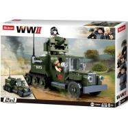 Sluban WWII M38-B0685 Sovětský polopásový vůz 2v1 - Half-Track