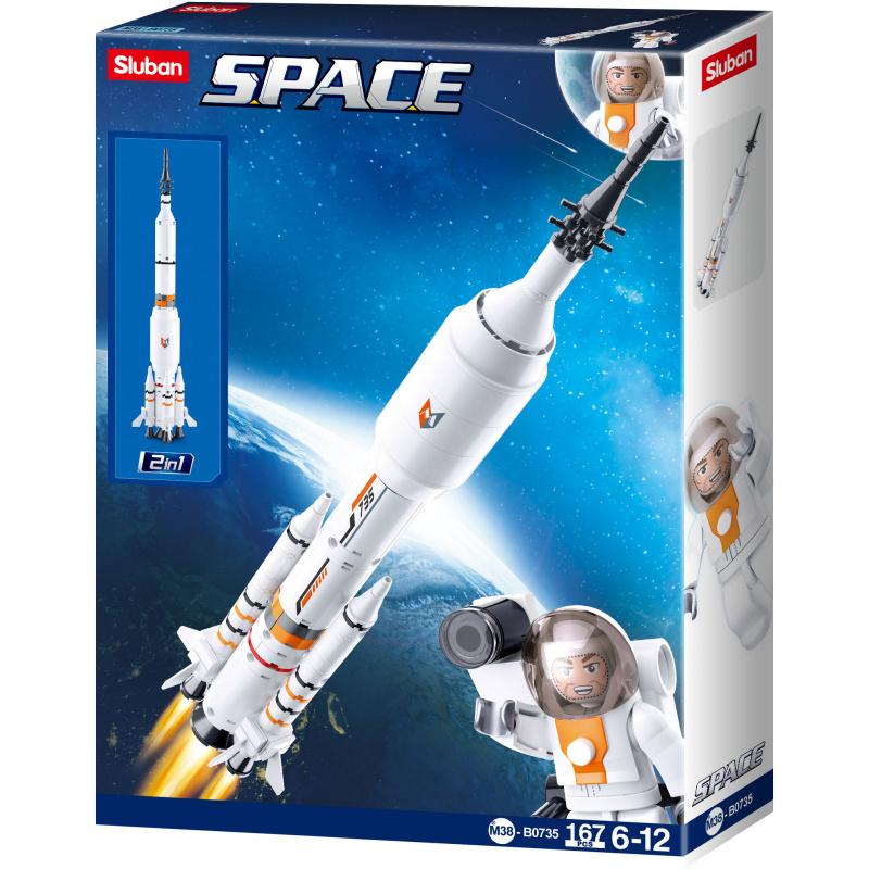 Sluban Space M38-B0735 Raketa pro raketoplán 2v1