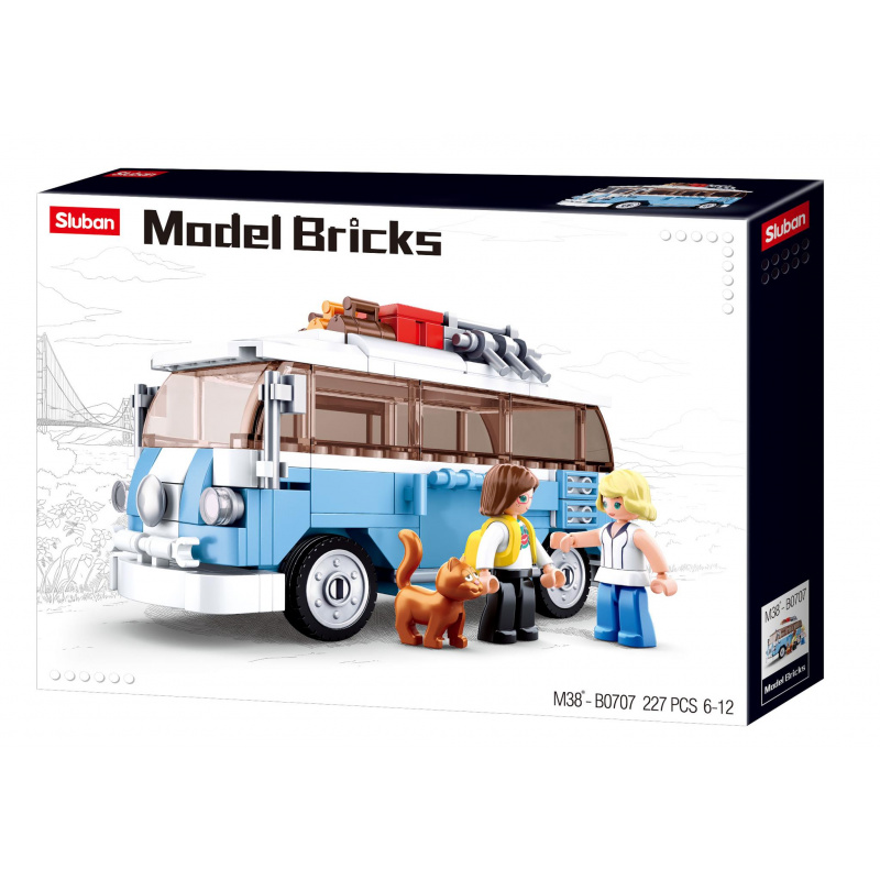 Sluban Modely M38-B0707 Happy bus
