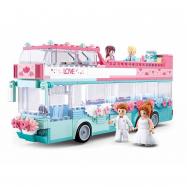 Sluban Girls Dream M38-B0769 Wedding Bus