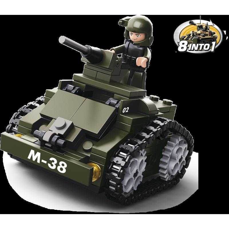 Sluban Army 8into1 M38-B0587C Obrnený voz