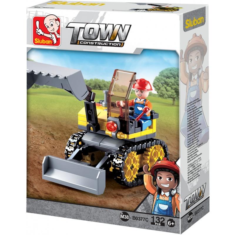 Sluban Town Stavitelé  M38-B0377C Malý pásový bagr