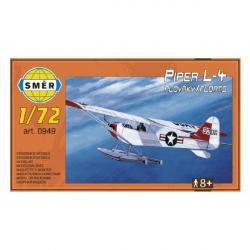 Smer 0949 Piper L-4 Floats 14,7x9,3cm