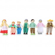Panenky do domečku - Farmářska rodina 7ks